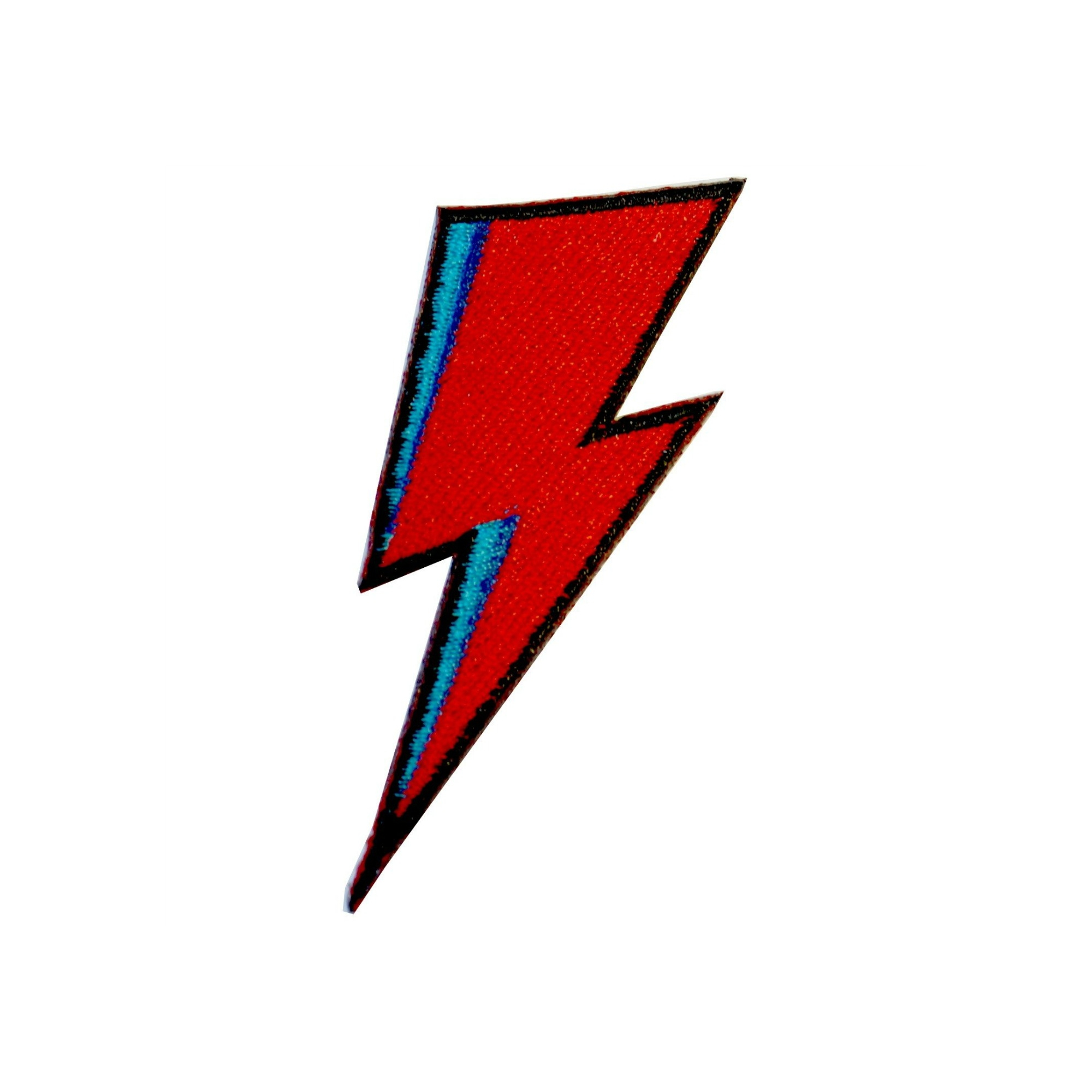 Details about David Bowie Lightning Bolt Iron On Patch Ziggy Satrdust Gift  Clothing Transfer A.