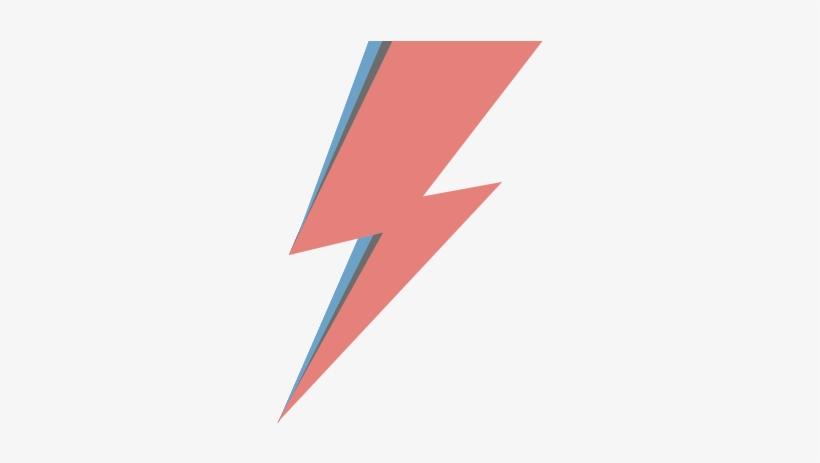 David Bowie Aladdin Sane Lightning Bolt PNG Image.