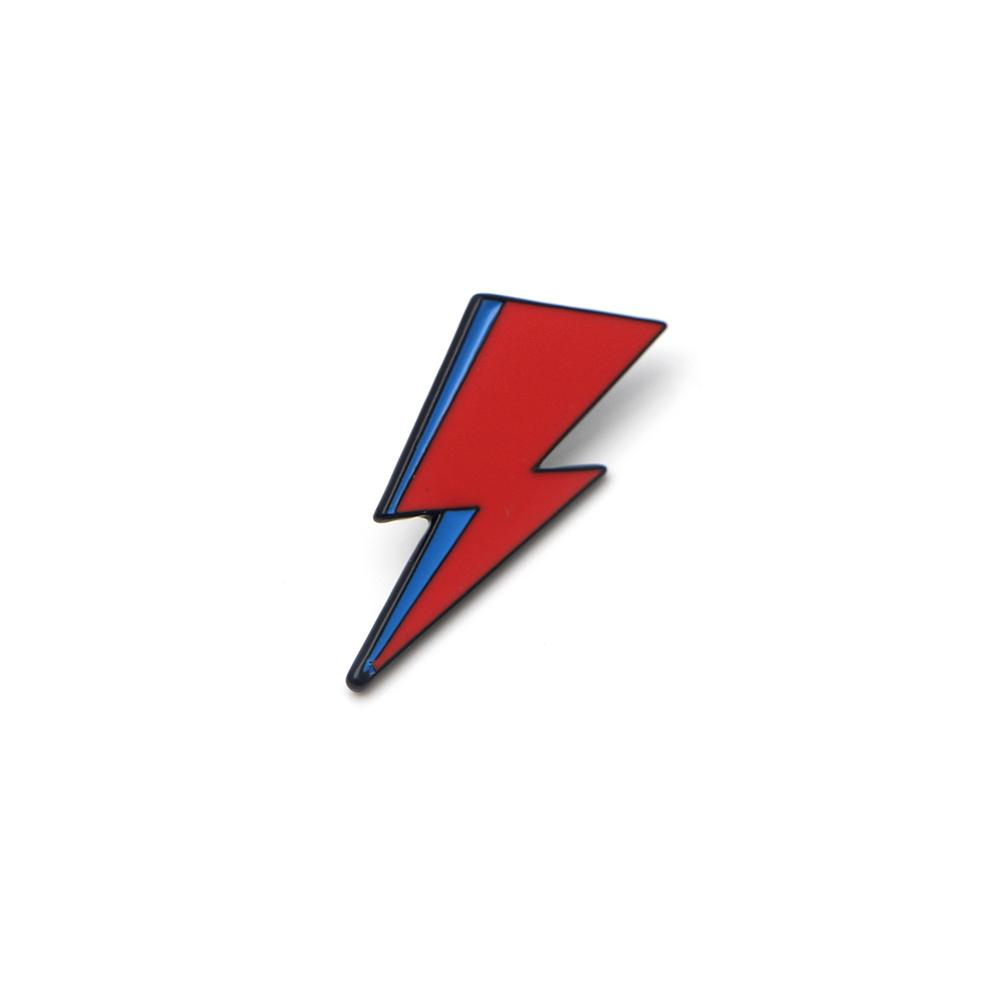 P2406 Dongmanli Bowie inspired Enamel Lapel Pin Aladdin Sane David Bowie  Lightning Bolt Badge For Backpacks RBrooch.