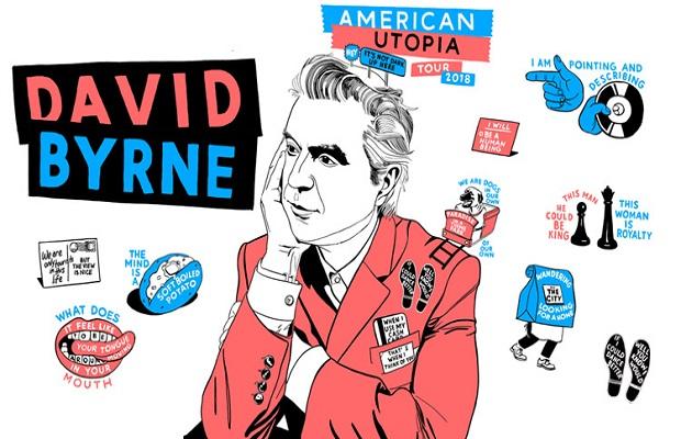 David Byrne of Talking Heads @ Rose Music Center.
