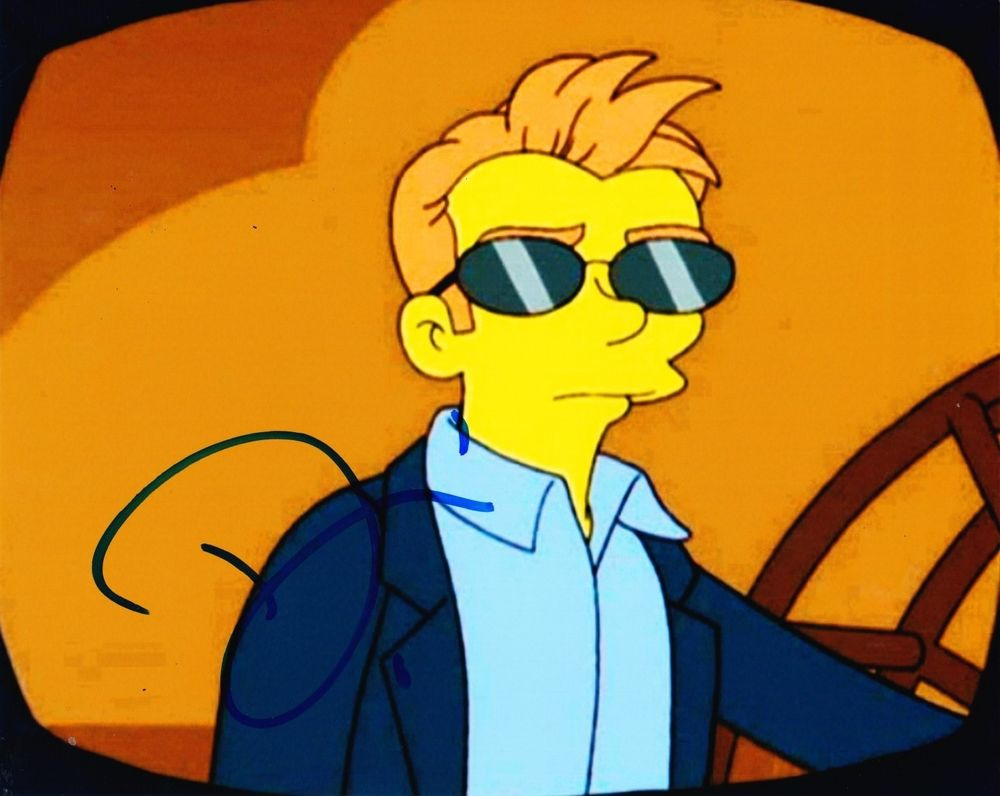 David Caruso Signed 8x10 Photo Autograph The Simpsons Fox CSI.