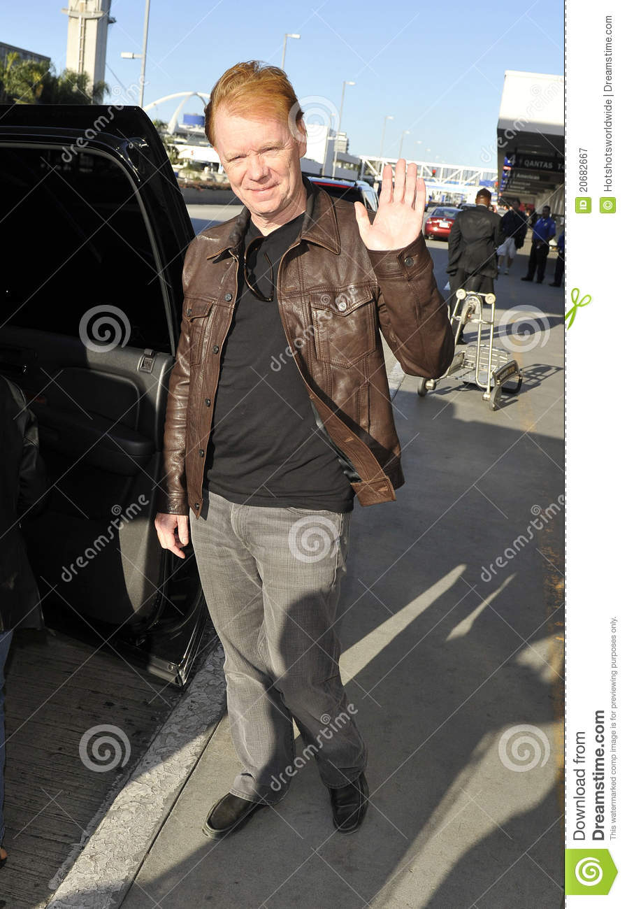 Actor David Caruso At LAX Airport,CA USA Editorial Photography.