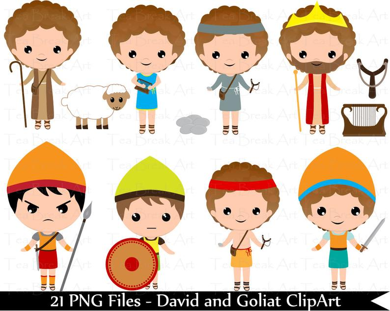 David and Goliat ClipArt.