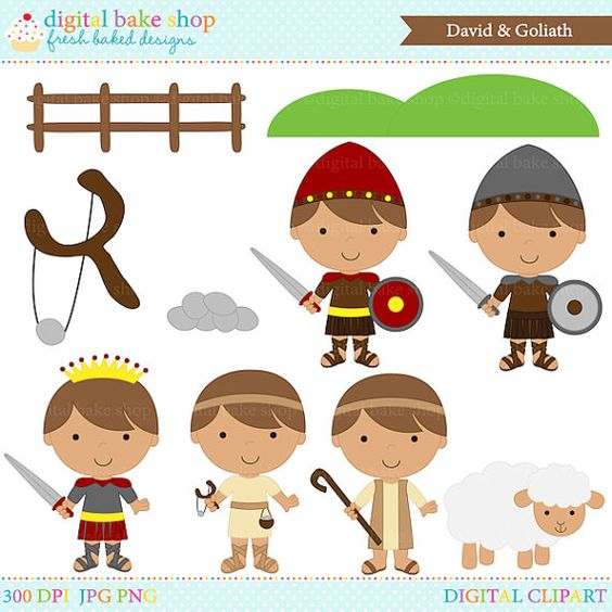 David in the Bible Clip Art.