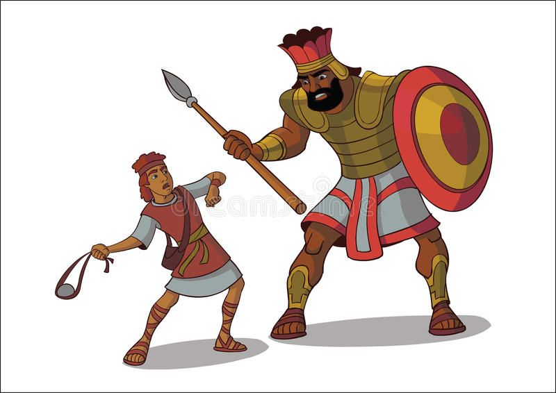 Image result for david and goliath, perspective, clip art.