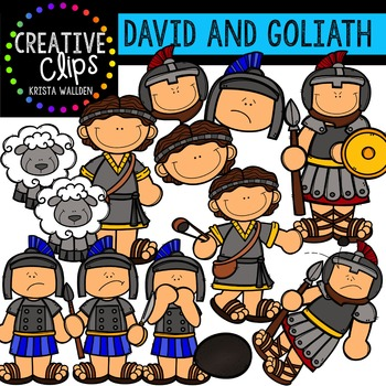 David and Goliath {Creative Clips Digital Clipart}.