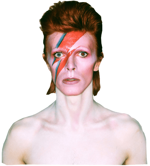 David Bowie Ziggy Stardust Face transparent PNG.