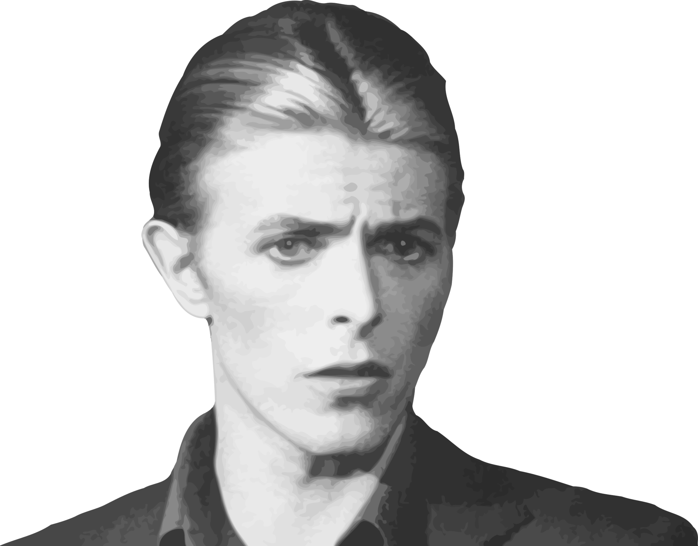 David Bowie B&w transparent PNG.