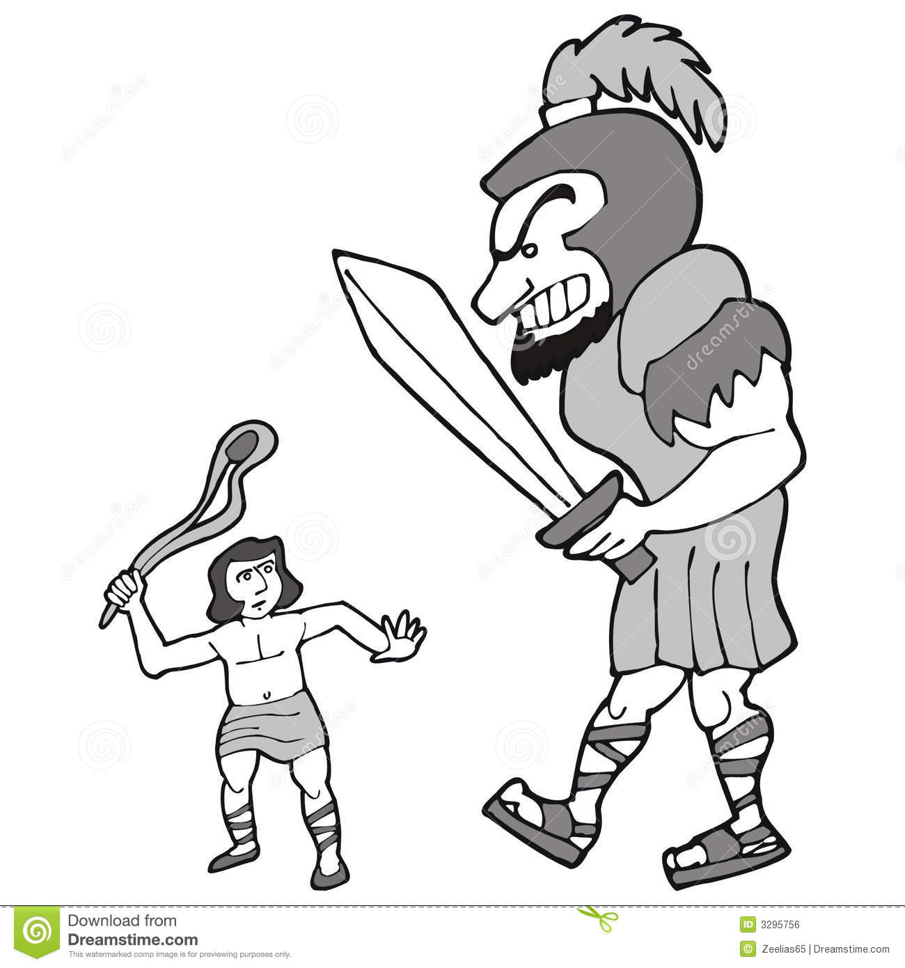 David And Goliath Royalty Free Stock Image.