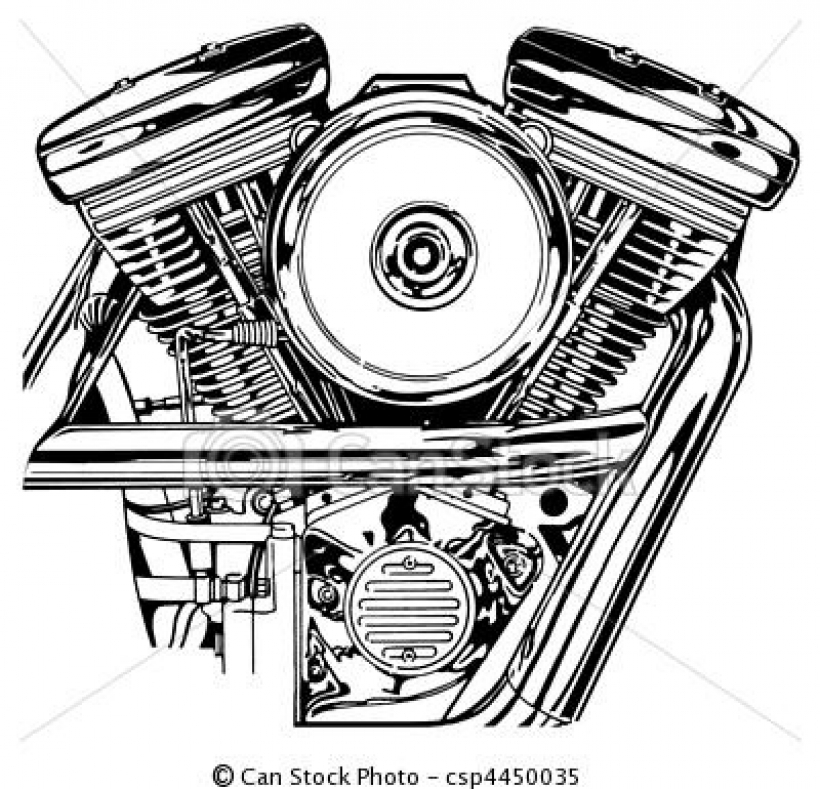stock illustration harley v twin engine stock illustration.