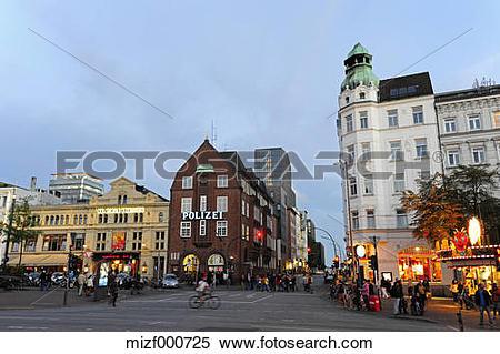 Stock Image of Germany, Hamburg, St. Pauli, Spielbudenplatz.