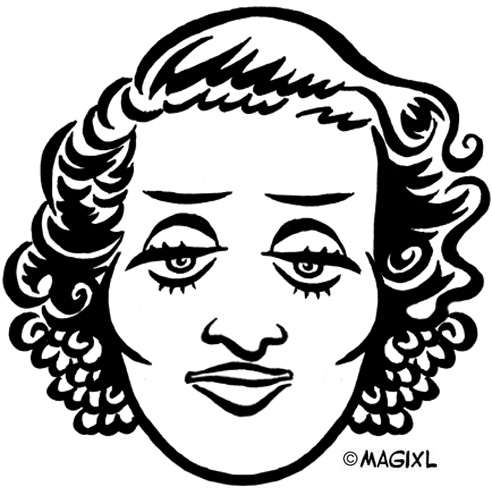 Bette davis clipart.