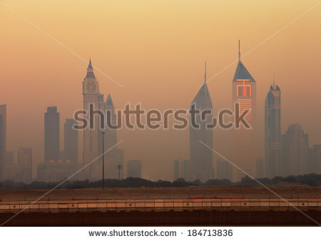 Cleveland Evening Skyline Stock Vector 307675409.