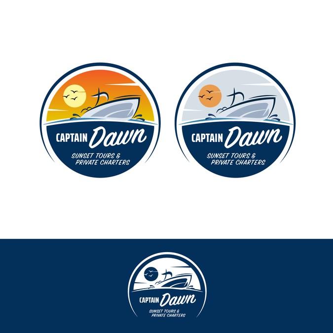 Captain Dawn logo design.