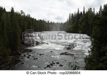 Stock Images of Dawson Falls, Wells Gray PP, Canada, also called.