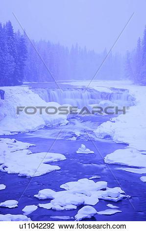 Stock Photo of Dawson Falls (20.