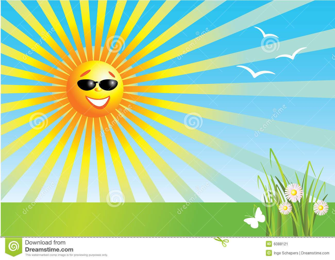 Clipart of sunny day 1 » Clipart Portal.