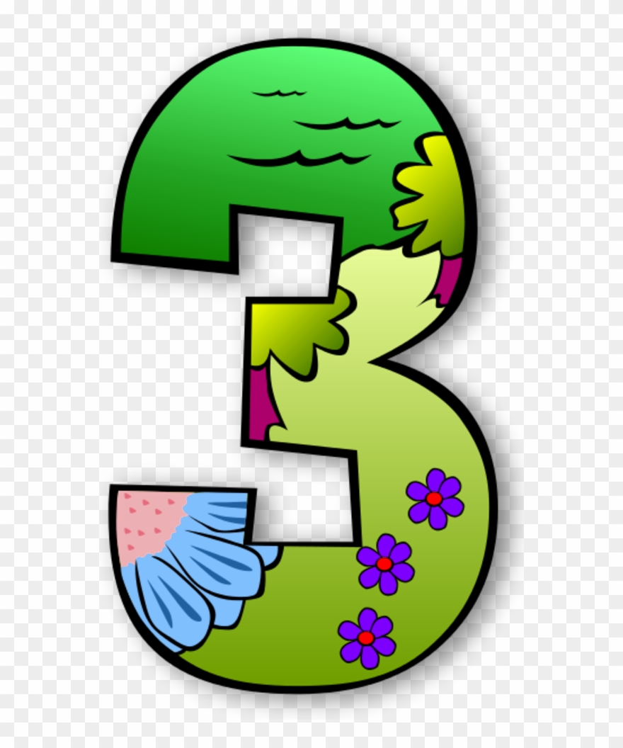 Numbers To Color Clipart Clipart Suggest.