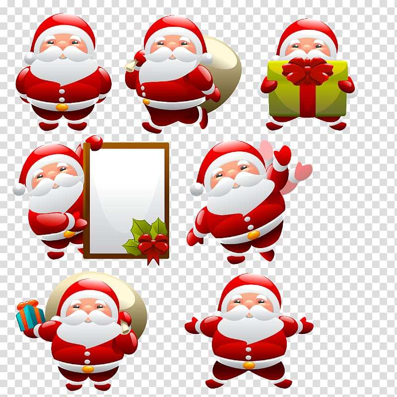 Santa Claus Christmas ornament Christmas Day graphics, M word.