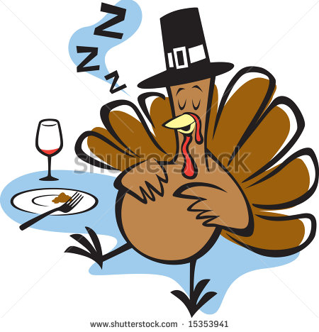 Day After Thanksgiving Stuffed Clipart.