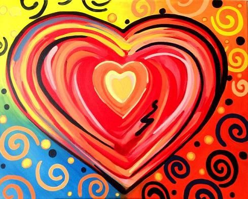 1000+ ideas about Heart Canvas on Pinterest.