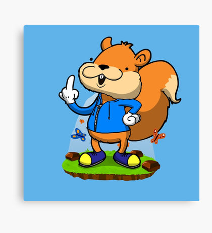 Conkers Bad Fur Day: Canvas Prints.
