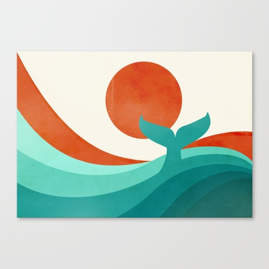 Wave (day) Canvas Print by Jay Fleck.