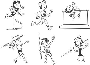 School Athletes Clipart.