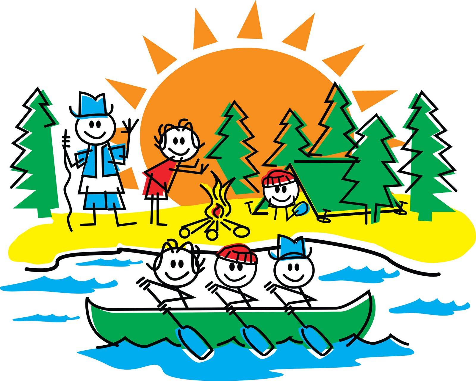 Day Camp Cartoon Clipart.