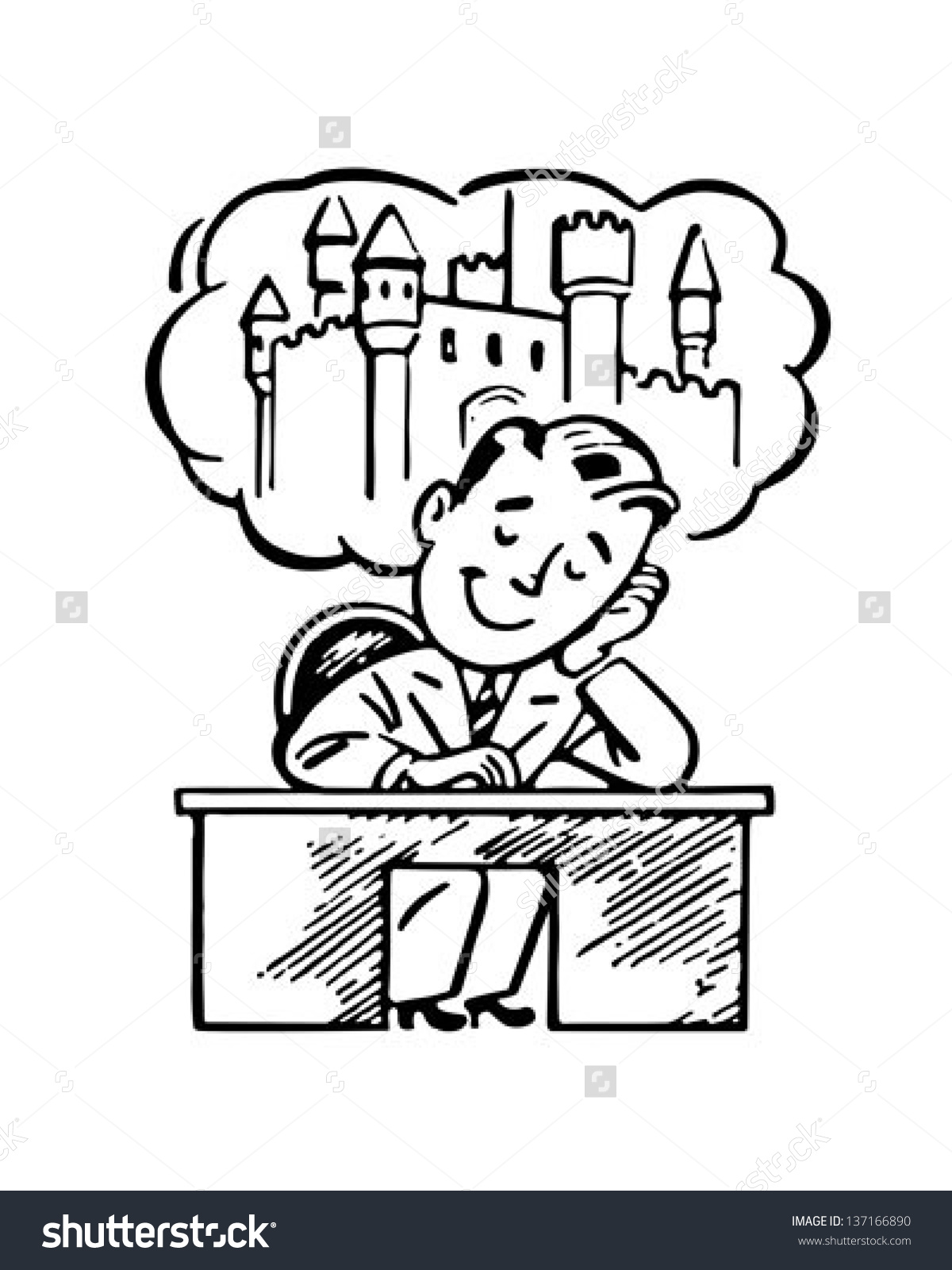 Person Day Dreaming Clipart.