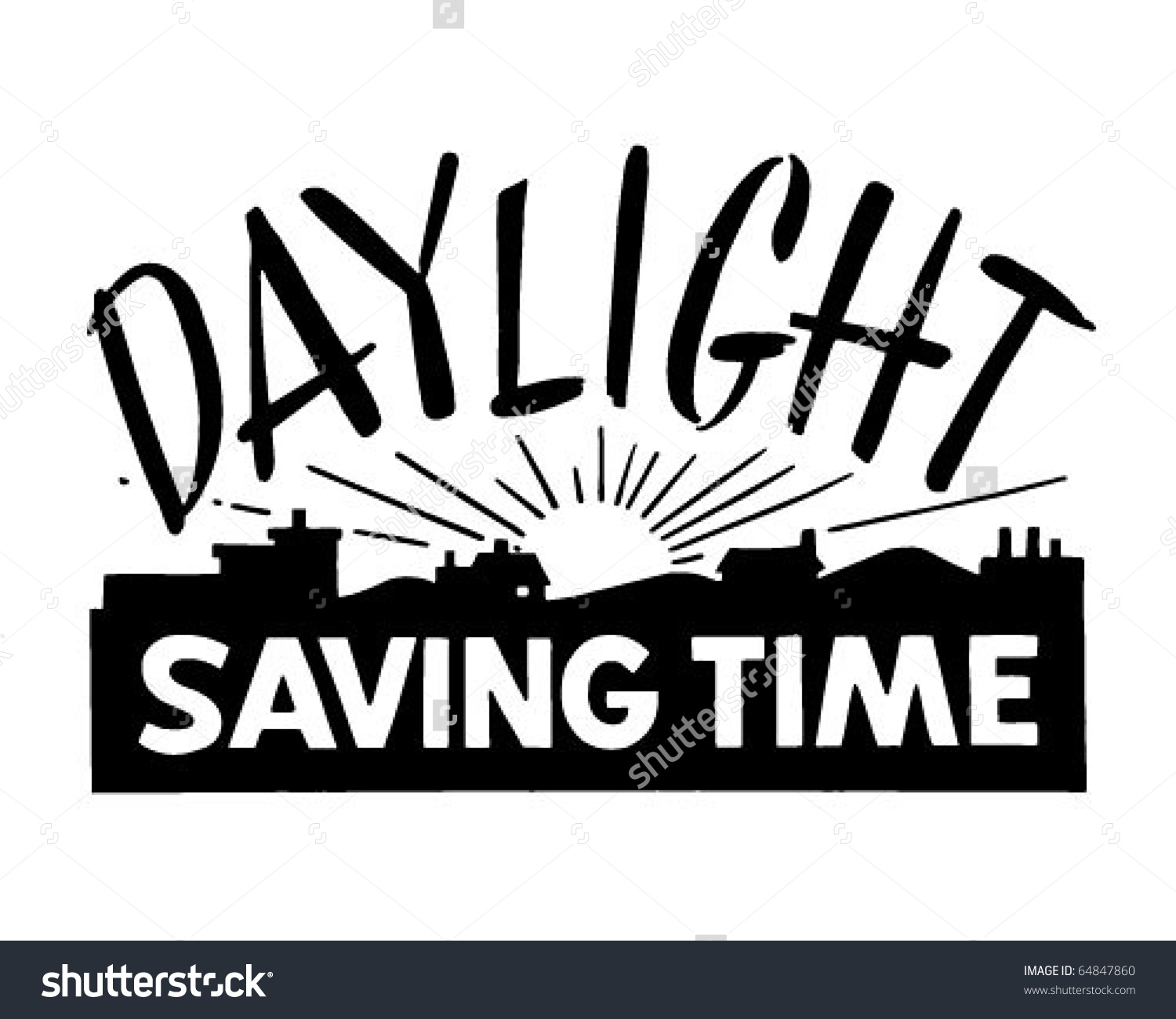 Daylight saving time clip art.