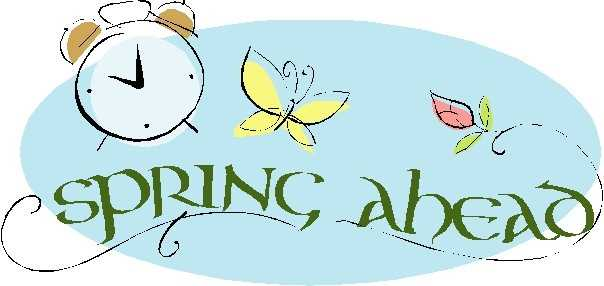 spring forward time change clipart #10