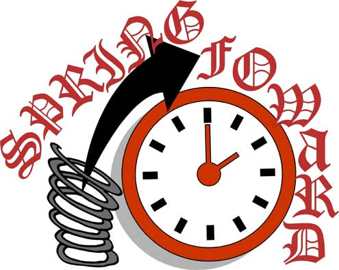 Daylight Savings Time Begins Clipart.