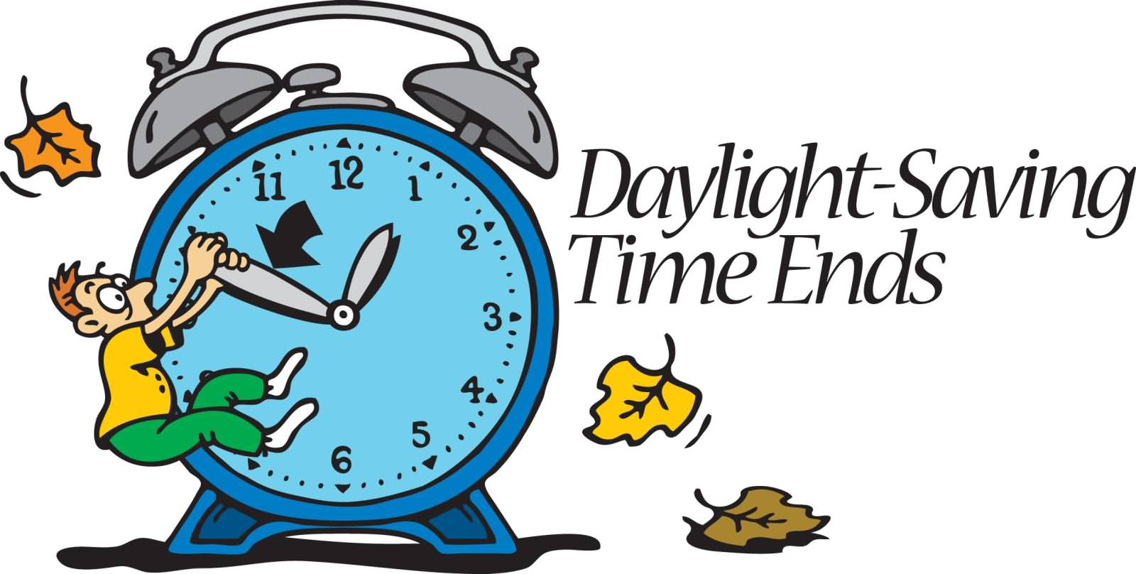 End of daylight savings time clip art.