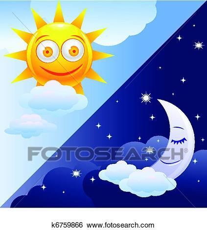 Day and night clipart 6 » Clipart Portal.