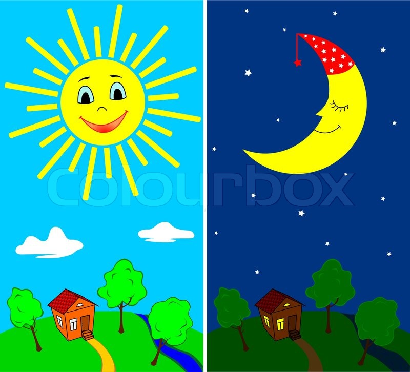 Day and night clipart 10 » Clipart Station.