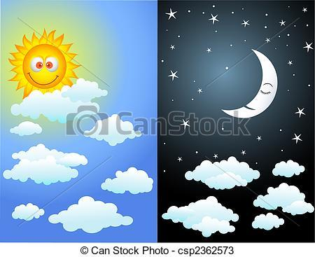 Day night clipart 2 » Clipart Portal.