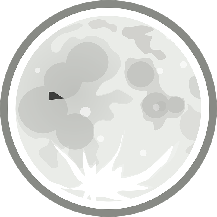 Free vector graphic: Moon, Full Moon, Syzygy Day.
