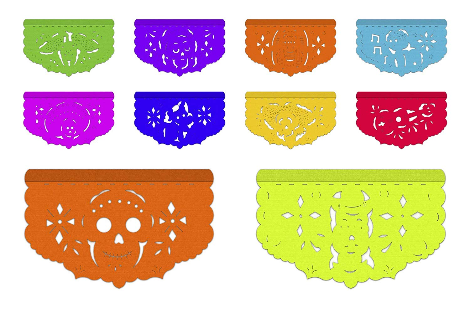 Amazon.com: 5 Pack Mexican Papel Picado Banners, 20 Feet.