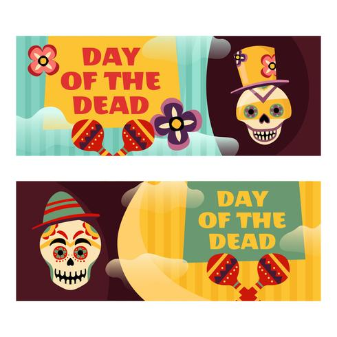 Day Of The Dead Vector Banner.