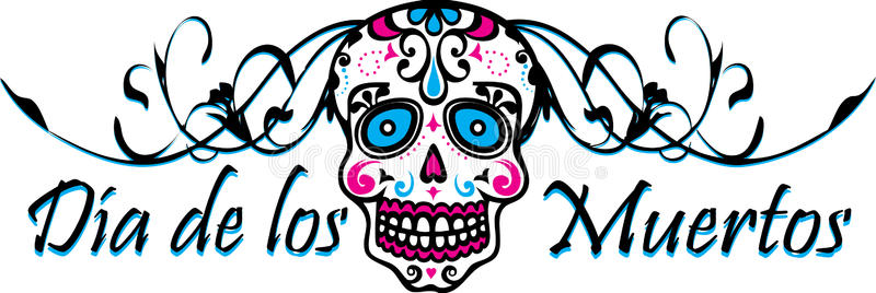 Muertos Border Stock Illustrations.