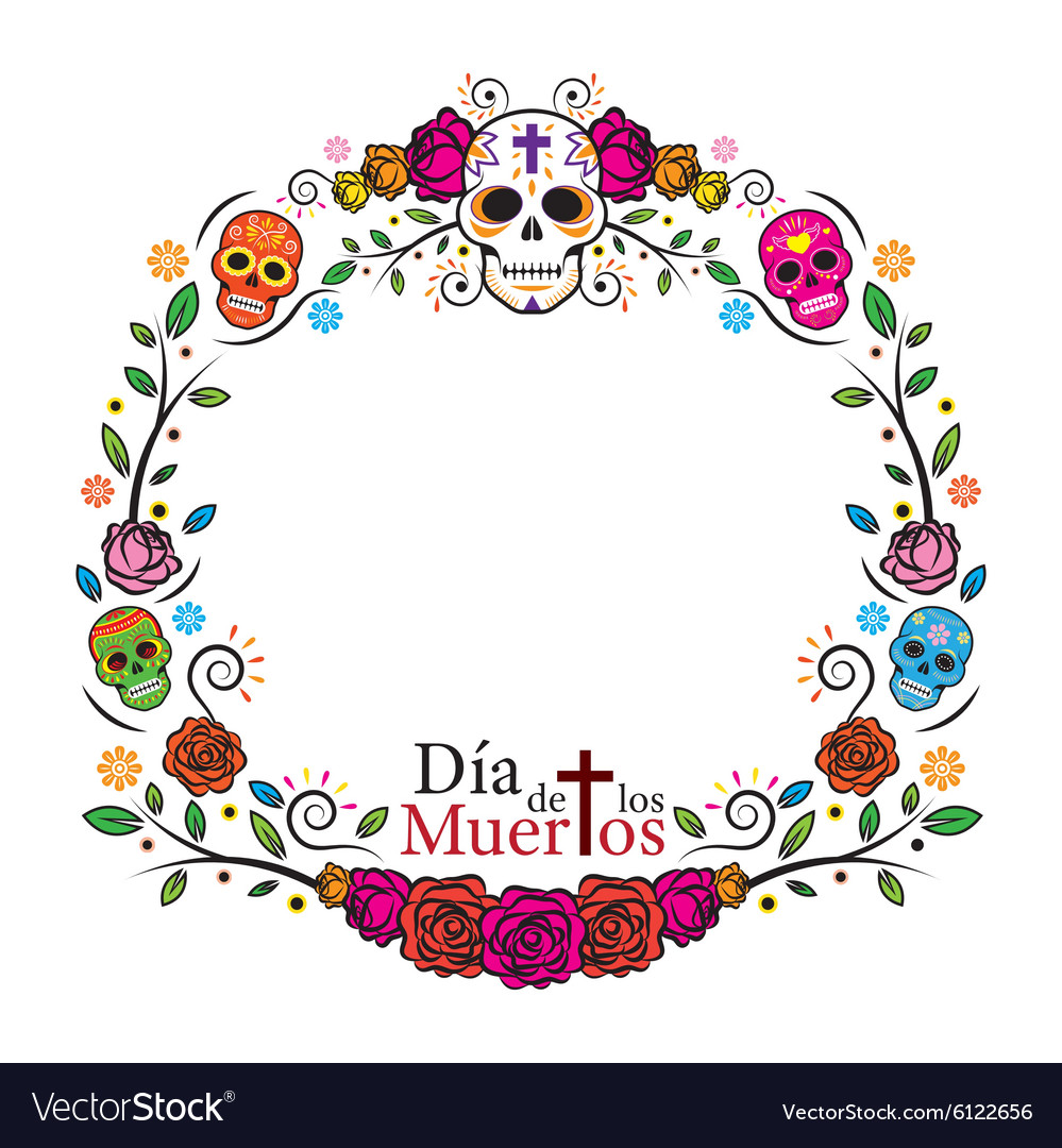 Day of the Dead Skulls Frame.