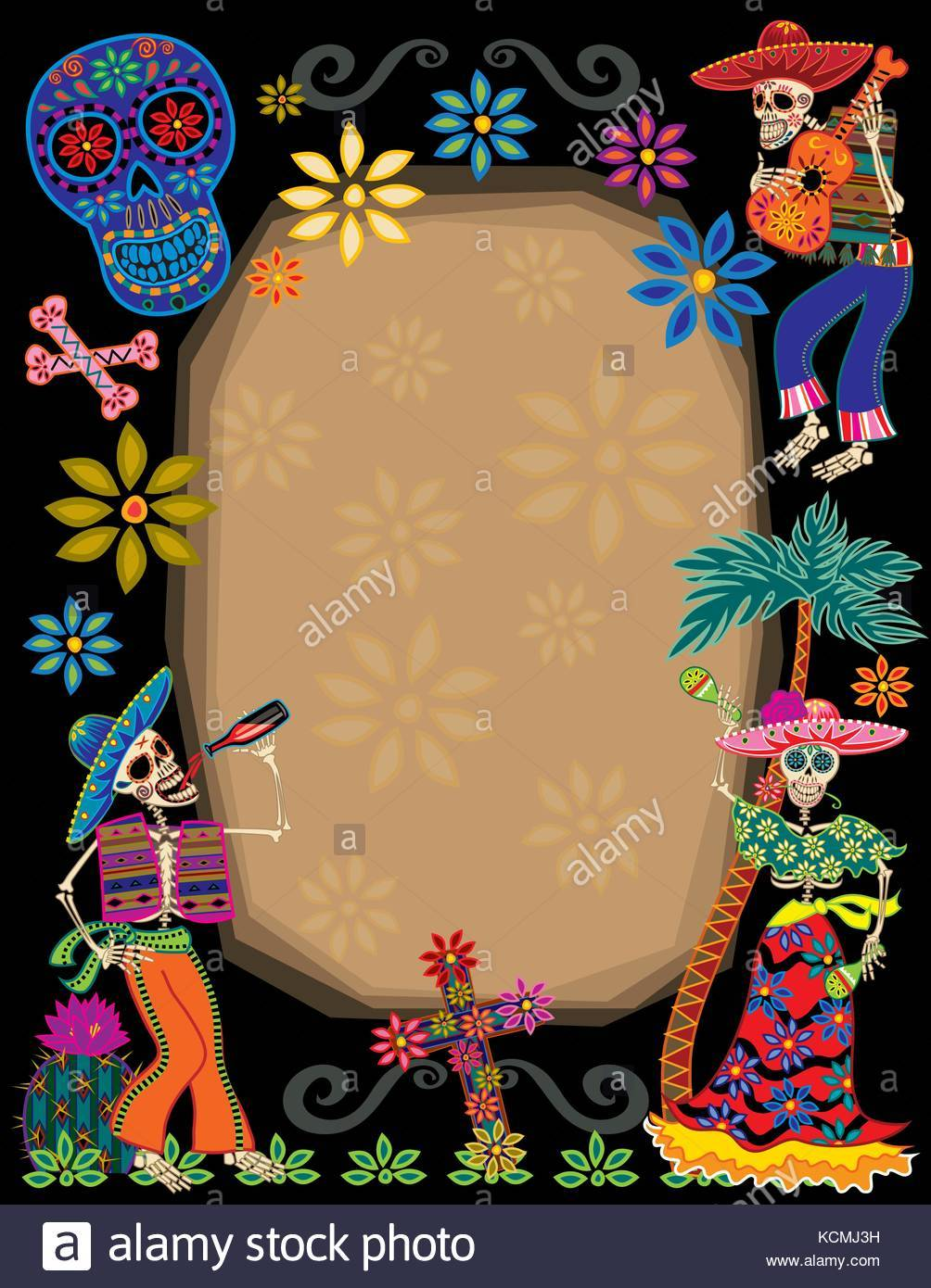 Day of the dead border clipart 8 » Clipart Portal.