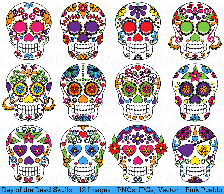 Day of dead clipart.
