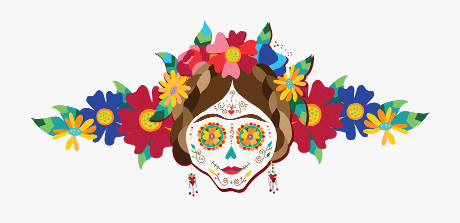 Day Of The Dead Flowers Clipart.