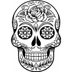 Free Day Of The Dead Clipart Black And White, Download Free.