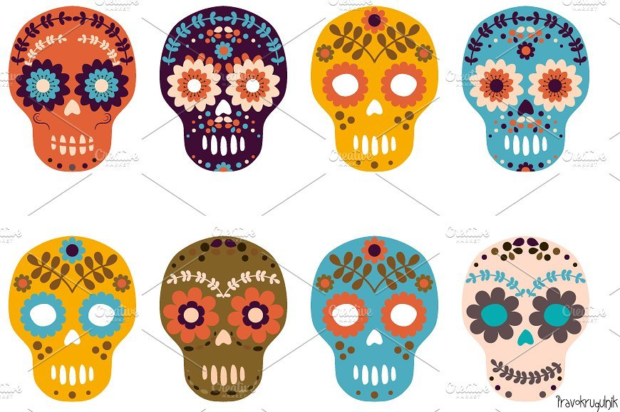 Day of the dead flowers clipart 2 » Clipart Portal.