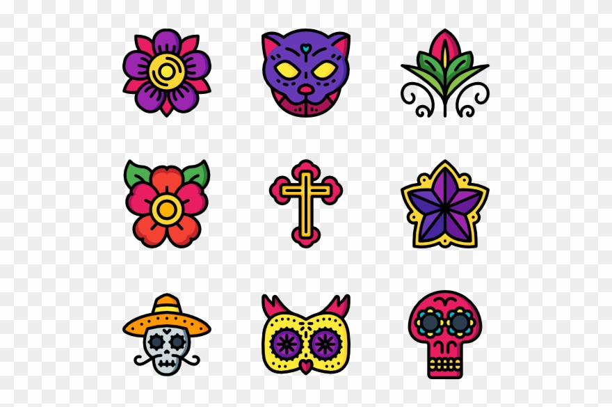 Day Of The Dead Flower Png Clipart (#1142900).