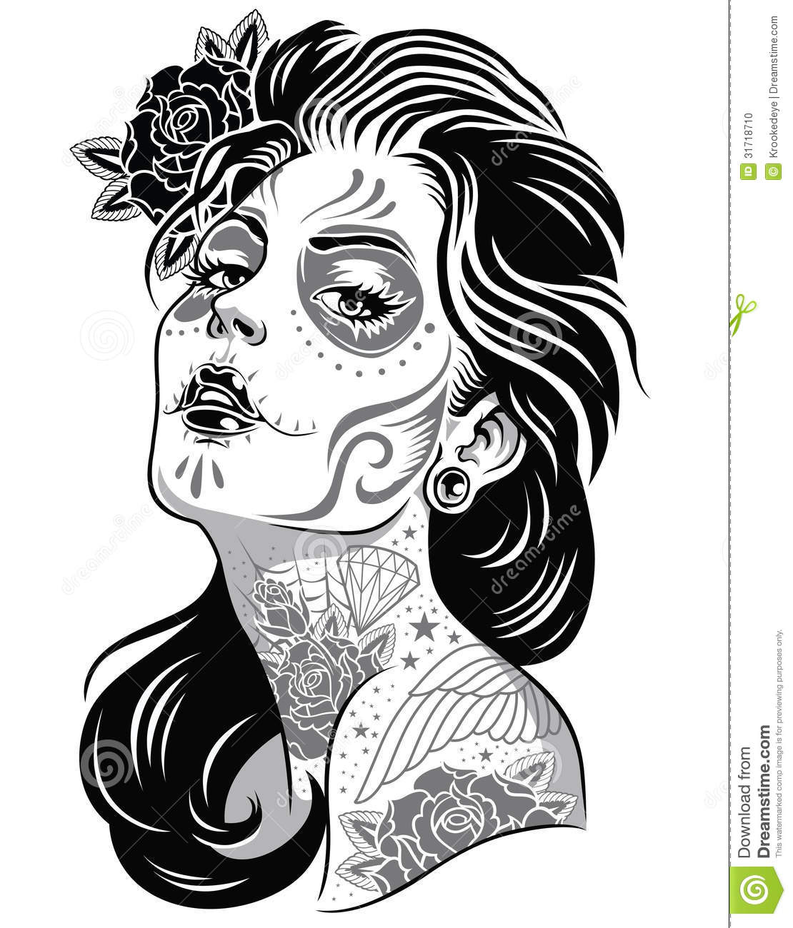 day of the dead girl clipart - Clipground
