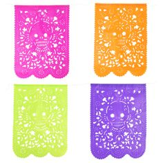 Mexican Papel Picado (Hand cut out paper banners).